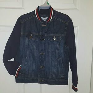 The Children's Place Dark Denim Jacket size 5/6